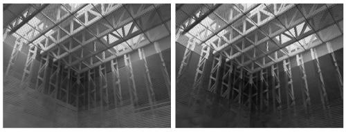 駿府教会の内壁に見られるような透視性能を、ルーバの間隔や反射率を操作したシミュレーションにより、目で見て確認することができます。